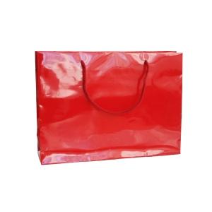 Dárková papírová taška HANKA, 35 x 9 x 24 cm, červená
