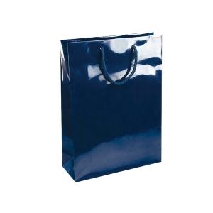 Dárková papírová taška NATALY, 24 x 9 x 35 cm, modrá