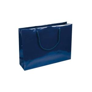 Dárková papírová taška NATALY, 35 x 9 x 24 cm, modrá
