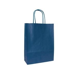 Dárková papírová taška ANKA, 18 x 8 x 25 cm, modrá
