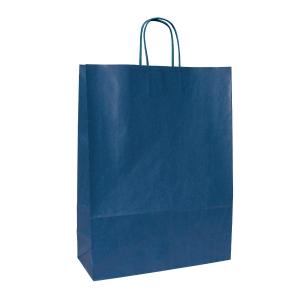 Dárková papírová taška ANKA, 23 x 10 x 32 cm, modrá