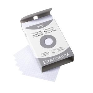 Lístky Exacompta do kartotéky A7, čtverečkované