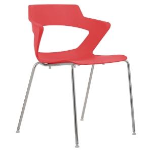 Konferenční židle Antares Aoki, červená