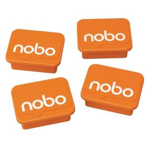 Magnety Nobo, 30 mm, oranžové, 4 kusy