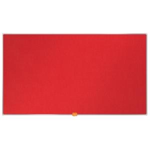 Širokoúhlá textilní nástěnka Nobo, uhlopříčka 40 palců, červená