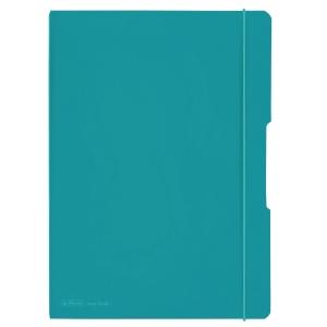 Zápisníky Herlitz my.book Flex A4, linkovaný/čtverečkovaný, tyrkysový