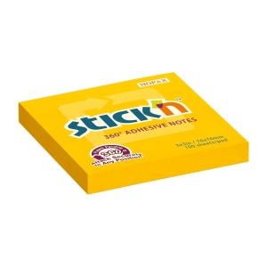 Samolepicí bloček STICK N Notes 360°, 76 x 76 mm, oranžový