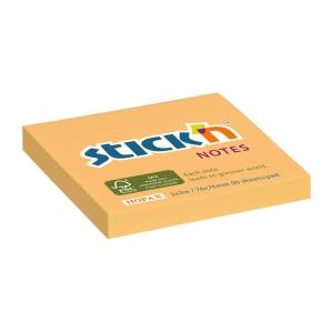 Samolepicí bloček STICK N by Hopax FSC, 76 x 76 mm, pastel oranžový, 90 lístků