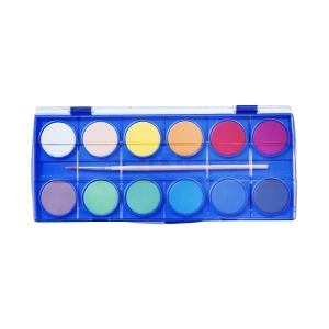 SPOKO 0341 vodové barvy, 12 barev + štětec