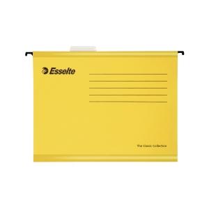 Závěsné obaly Esselte Classic, pro A4 dokumenty, barva žlutá, balení 25 ks