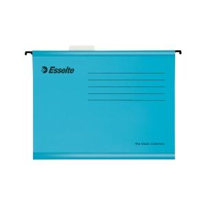 Závěsné obaly Esselte Classic, pro A4 dokumenty, barva modrá, balení 25 ks