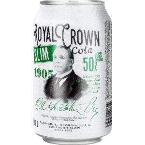 Cola Royal Crown, slim, plechovka, 0,33 l