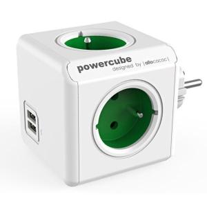 ALLOCACOC POWERCUBE rozbočovací zásuvka, zelená