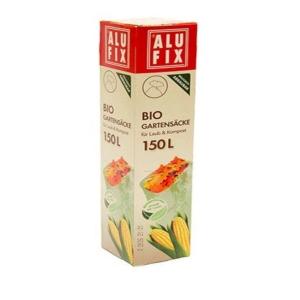 Alufix Bio odpadové pytle, 75 x 115 cm, 35 µm, 150 l, zelené, 3 kusy