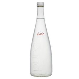 Evian přírodní pramenitá voda, neperlivá, 0,75 l, sklo, 12 kusů