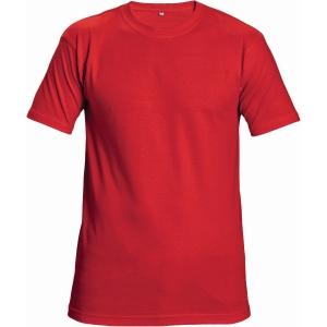 Tričko s krátkym rukávem ČERVA TEESTA, velikost XL, červené