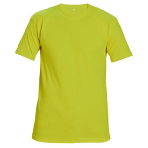 Tričko s krátkym rukávem ČERVA TEESTA FLUORESCENT, velikost 2XL, žluté