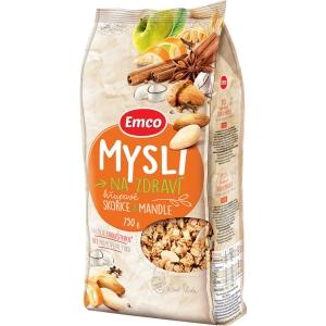 Emco křupavé musli, skořice & mandle, 750 g