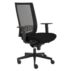 Alba Kent kancelářská židle, síť, černá