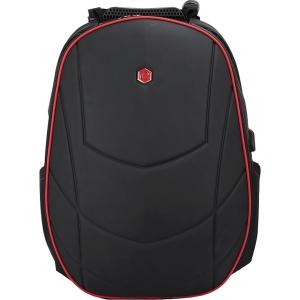 Designový batoh BESTLIFE 17  speciálně navržen pro hráče, černočervený