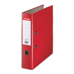 Pákový pořadač Esselte Economy, šířka hřbetu 7,5 cm, červený