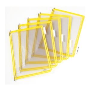 Náhradní panely t-display Industrial Tarifold A4, barva žlutá, v balení 10 ks