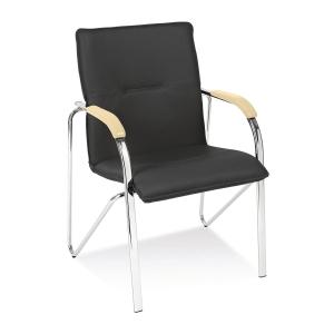 Konferenční židle Samba chrome - stohovatelná (max. 4 ks), černá