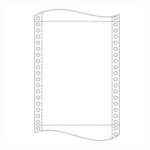 Papír do jehličkových tiskáren 54+54g/m2, 1+1 vrstev, šířka 250 mm, délka 12´´