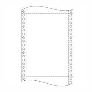 Papír do jehličkových tiskáren 54+52+54g/m2, 1+2 vrstev, šířka 250 mm, délka 12