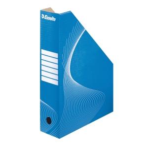 Stojan na časopisy Esselte 8 cm - modrý karton