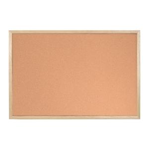 Korková tabule Bi-Office s dřevěným rámem - 60 x 80 cm