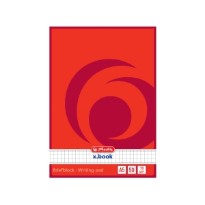 Blok Herlitz poznámkový A5, čtverečkovaný, nahoře lepený, 50 listů