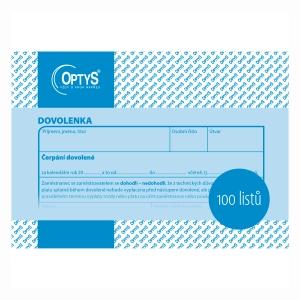 Dovolenky Optys A6, blok 100 listů