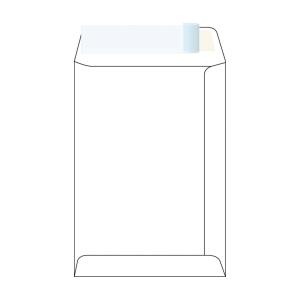 Tašky samolepicí s krycí páskou bílé B5 (176 x 250 mm), 500 ks/balení