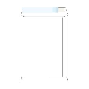 Tašky samolepicí bílé C4 (229 x 324 mm), 250 ks/balení