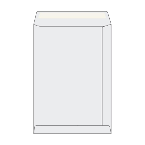 Tašky jednoduché bílé recykl. C4 (229 x 324 mm), 250 kusů/balení