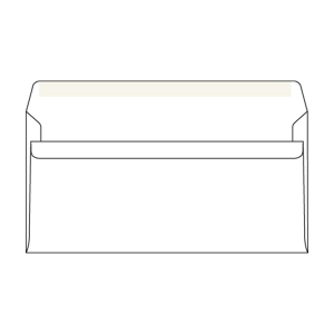 Obálky samolepicí bílé DL (110 x 220 mm), 1000 ks/balení
