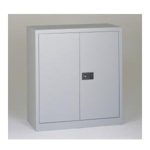 Kovová nízká skříň Bisley - světle šedá
