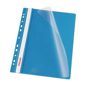 Závěsný prezentační rychlovazač Esselte - modrý, A4