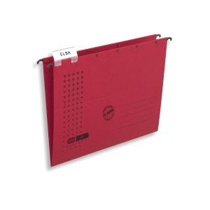 Závěsné kartonové obaly Elba typ  V  - červené, 25 ks
