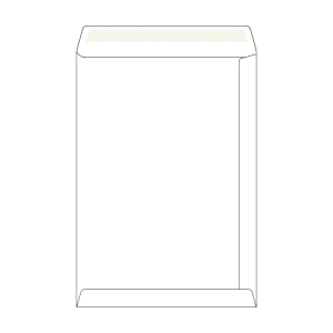 Tašky samolepicí bílé recyklované B4 (250 x 353 mm), 50 ks/balení
