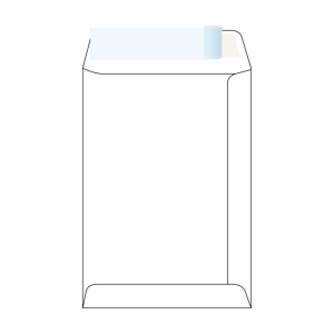 Tašky samolepicí s krycí páskou bílé B5 (176 x 250 mm), 50 ks/balení