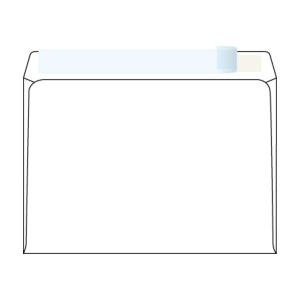 Obálky samolepicí s krycí páskou bílé C5 (162 x 229 mm), 50 kusů/balení