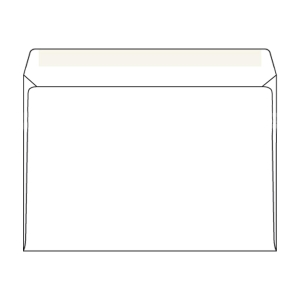 Obálky jednoduché bílé C5 (162 x 229 mm), 50 kusů/balení