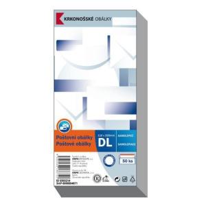 Obálky samolepicí bílé DL (110 x 220 mm), 50 ks/balení
