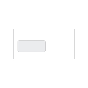 Obálky samolepicí bílé DL s oknem vlevo (110 x 220 mm), 50 ks/balení