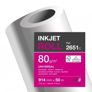 PK2 Plotrový papír v rolích 914 mm x 50 m, 80 g