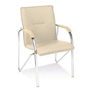 Konferenční židle Samba chrome - stohovatelná (max. 4 ks), béžová