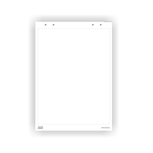 2x3 flipchartové bloky s rozměrem 70 x 100 cm čisté, 20 listů