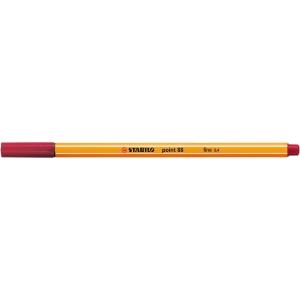 Stabilo® point 88® jemný liner, 0,4 mm, purpurově červený